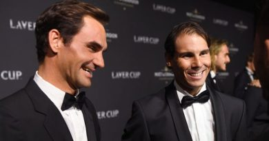 Rafael Nadal makes fun on Federer in the laver cup ceremony