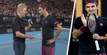 Roger Federer Court Interview with Courier - 1R Match
