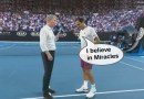 Roger Federer Post-match interview with Courier after QF win