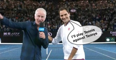 Watch Roger Federer funny post-match interview with McEnroe