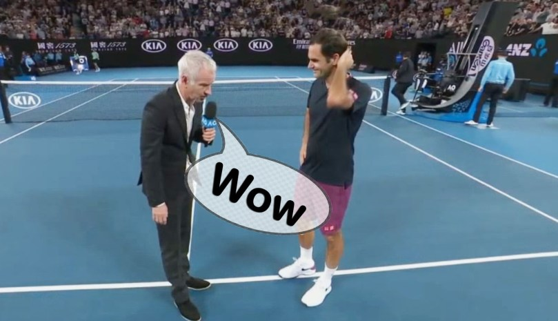 Watch: Roger Federer post-match interview after Krajinovic win
