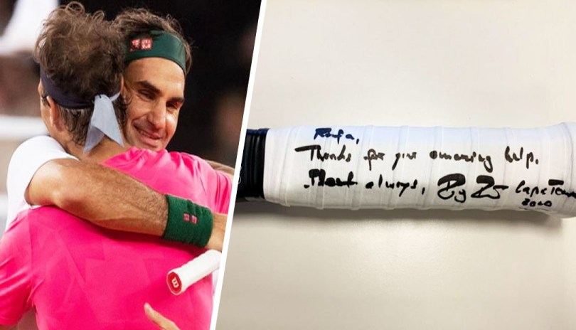 Roger Federer gives Nadal a special gift after the Charity Match