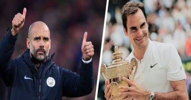 """Roger Federer is the G.O.A.T of Tennis"" Pep Guardiola says"