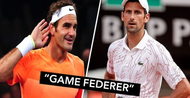 观看:网球裁判呼叫'Game Federer' in Djokovic's Match