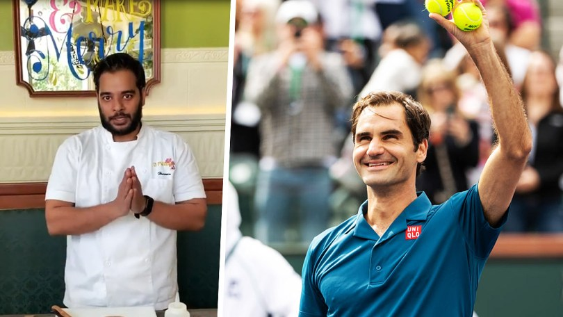 """Respectful and humble, that's Roger Federer,"" Chef Hussain says"