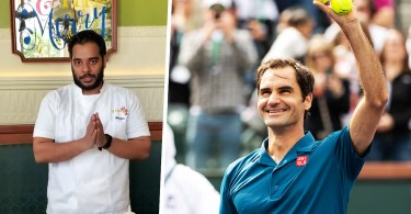 """""""Respectful and humble, that's Roger Federer,"""" Chef Hussain says"""