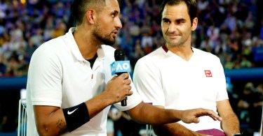 'Roger Federer is the G.O.A.T' in 2 BIG Words Nick Kyrgios answers