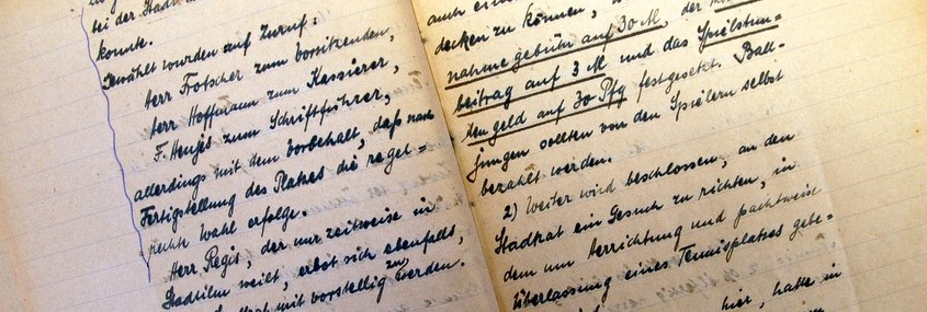 Auszug Protokollbuch von 1921 bis 1922