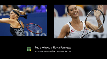 Petra Kvitova v Flavia Pennetta Tips for the US Open Quarterfinal 2015