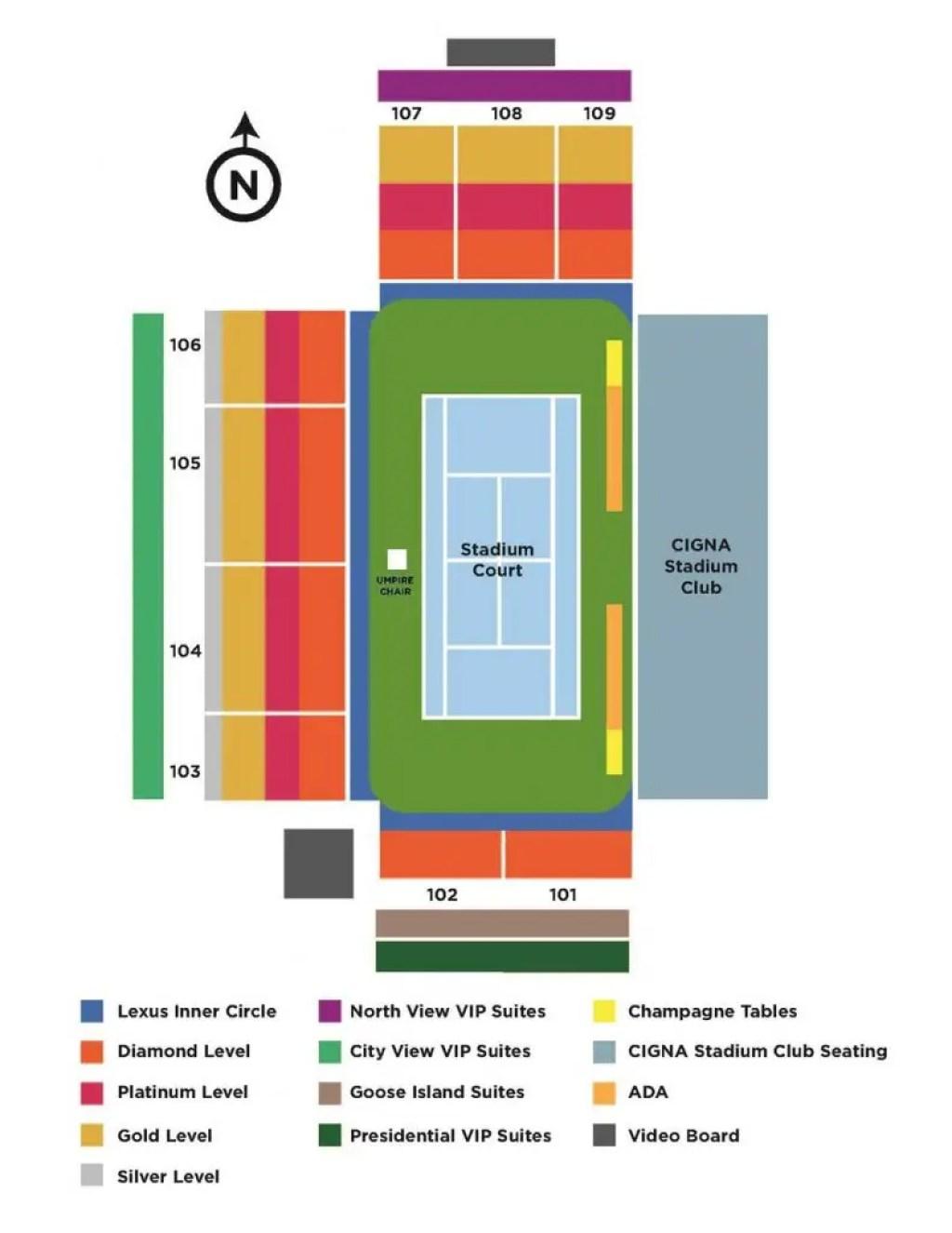 Atlanta Open Stadium Map