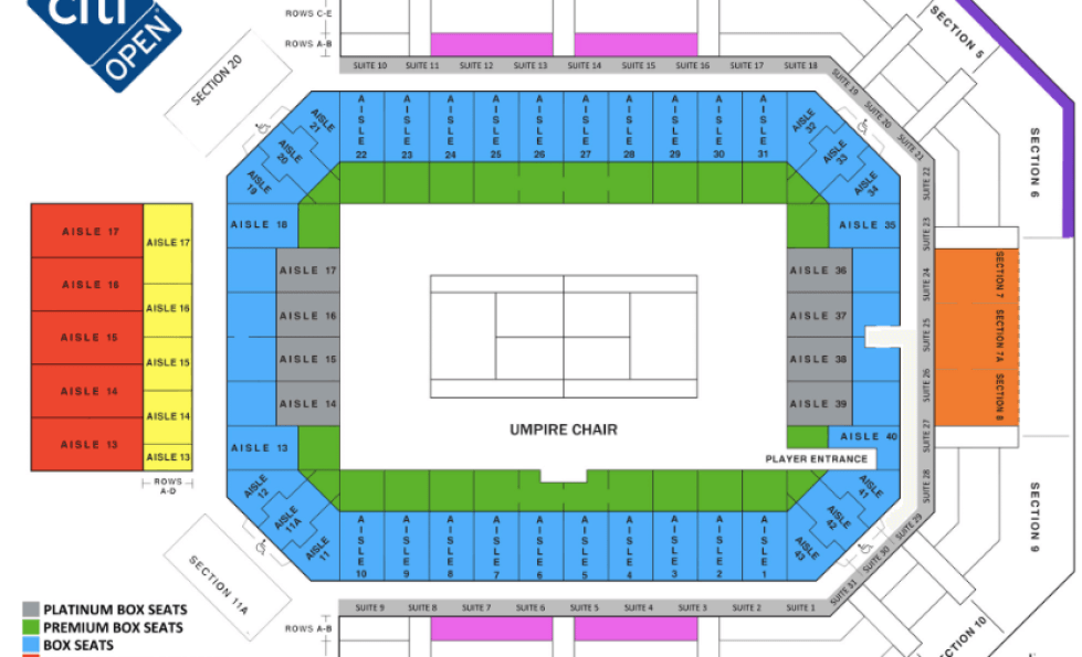 Citi Open Fitzgerald Center Seating Chart