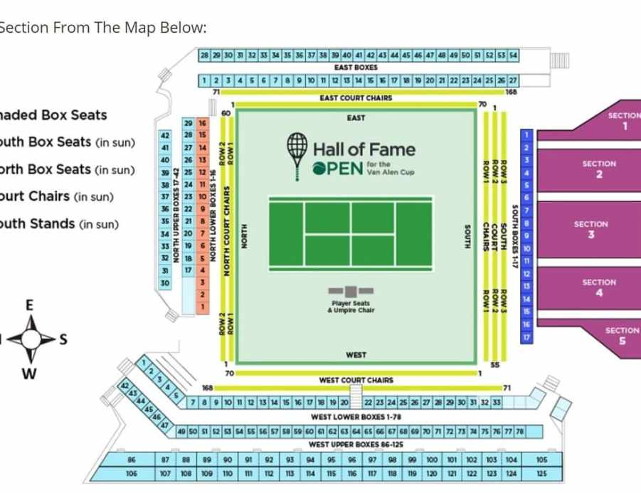 Hall of Fame Tennis Championships Seating Chart
