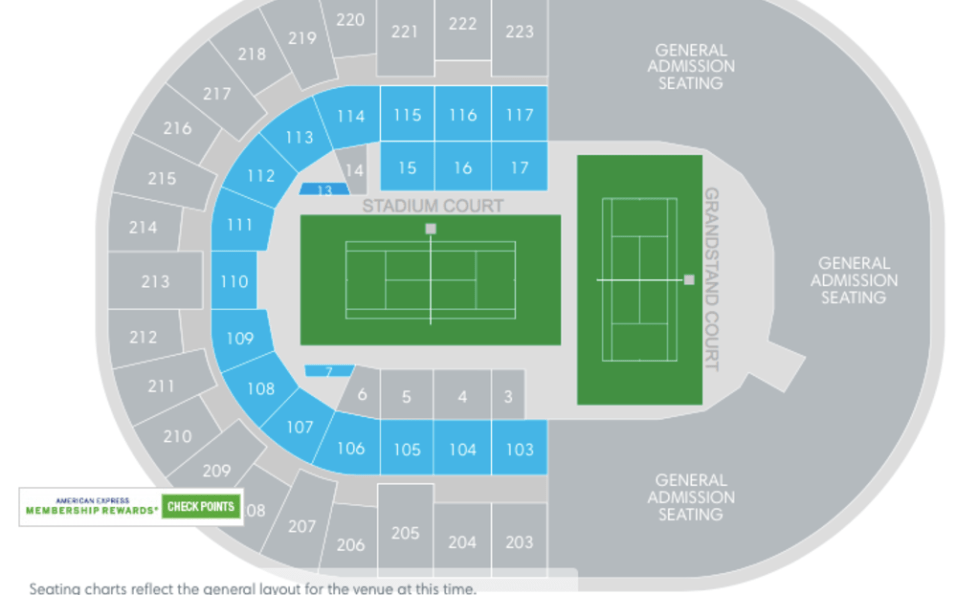 Nassau Coliseum New York Tennis Open Seating Map
