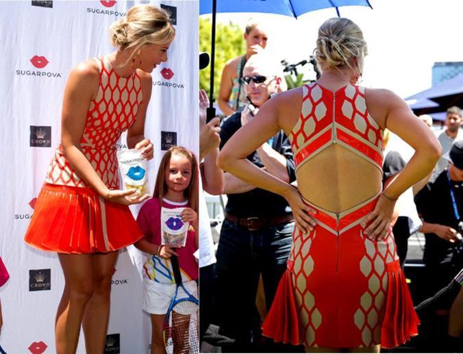 2013-Maria-Sharapova-Sugarpova-Launch-Dress