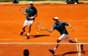 Poach doubles tennis match Bryan Brothers