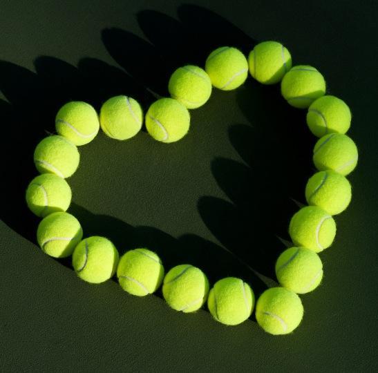 Tennis Balls Heart