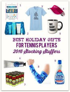 Best Holiday Gifts for Tennis Players – 2016 Stocking Stuffers
