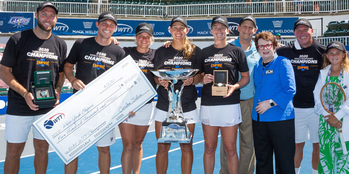Sudden Death Point Crowns New York Empire as 2020 World TeamTennis Champs at The Greenbrier