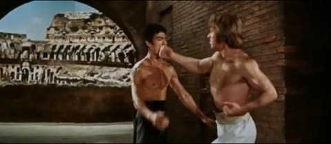 Chuck Norris punch Bruce Lee