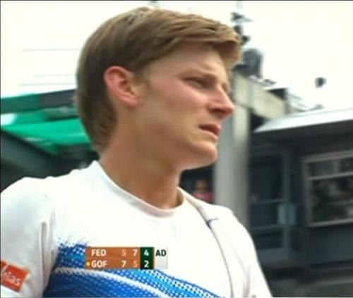 David Goffin Federer match Roland Garros screencaps images photos pictures