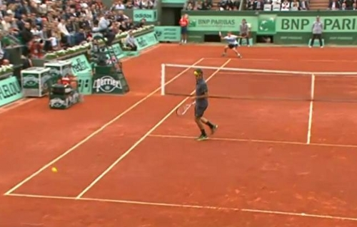 David Goffin winner on Roger Federer Roland Garros French Open 2012 pictures photos images screencaps