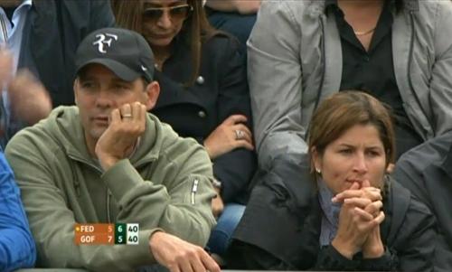 Paul Annacone Mirka Federer Roger David Goffin match Roland Garros 2012 concerned pictures photos
