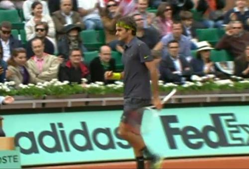 Roger Federer fist pump Fed images photos Roland Garros French Open
