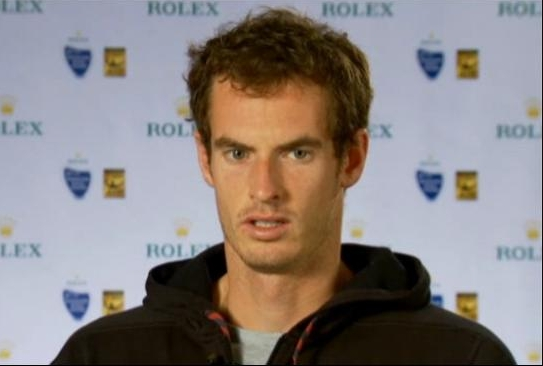 Andy Murray Shanghai quarterfinal interview screencaps images photos black hoodie sweatshirt