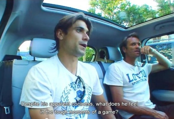 David Ferrer car Roland Garros funny questions French Open Paris Spanish to English translation subtitles 2012 photos images screencaps pictures