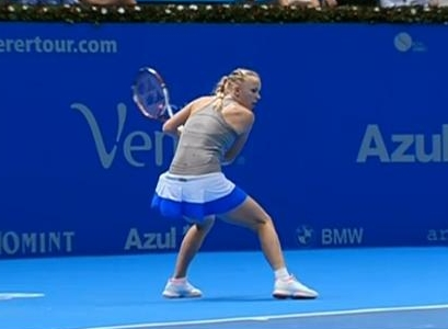 Caro backhand Brazilian exhibition match photos pics
