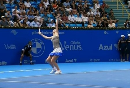 Karolina serve toss Brazil photos