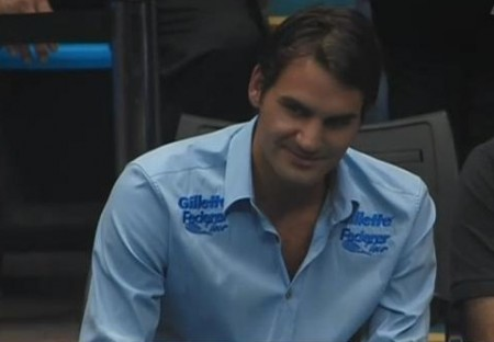 Roger Federer sexy sly how you doin' look Gillette tour Brazil 2012 pictures photos images screencaps