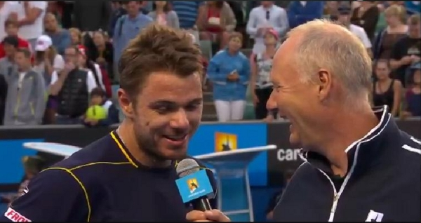 Australian Open interview Stanislas Wawrink Stan post-match chat smile happy pictures photos images