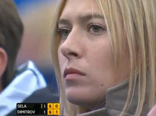 Masha at Grigor's match Queens Aegon Championships close up intense blonde pictures pretty lips photos