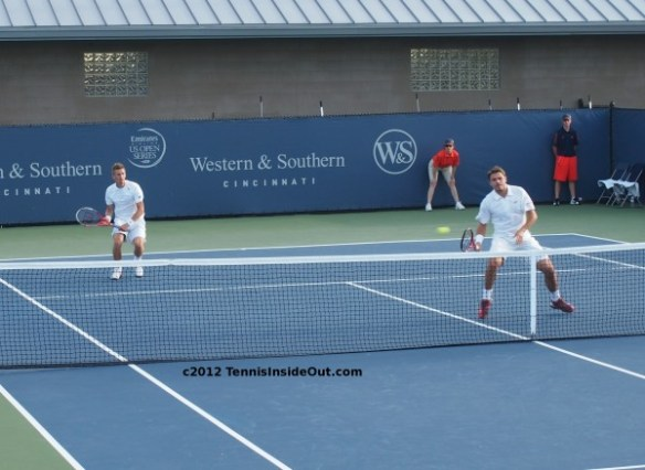 Jarkko Nieminen Stanislas Wawrinka doubles Western and Southern Open 2012 all whites