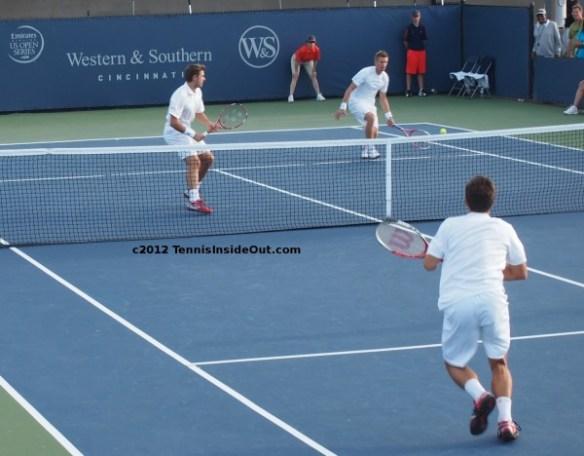 Stan Wawrinka Jarkko Nieminen half volley Philipp Kohlschreiber doubles Cincinnati 2012 pictures images