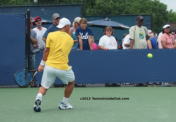 Ricky Berankis lining up backhand ass bum arse round pictures Cincinnati qualies