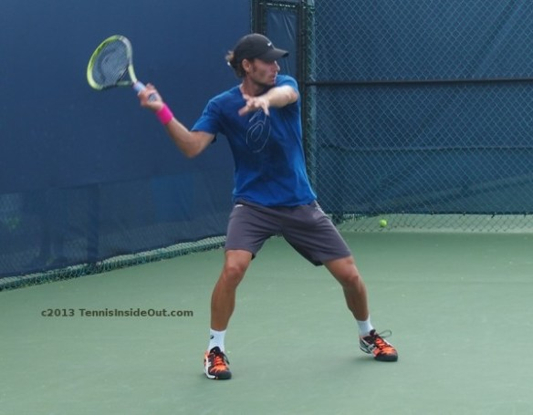 Tommy Groh coach for Haas unusual unique forehand set up grip photos