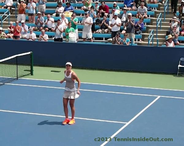 Andrea Petkovic Hantuchova match Cincinnati Masters August 2013 Petko dance pictures photos