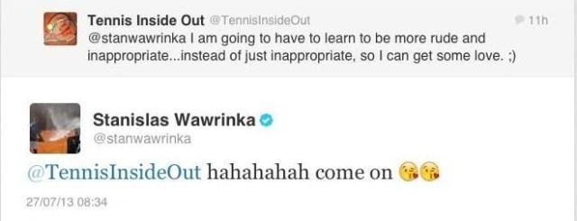 Stan tweets virtual kisses to me July 2013