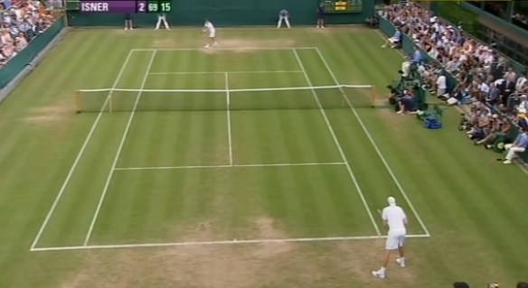 John Isner Nicolas Mahut longest match ever in history Wimbledon whites photos match pictures screencaps
