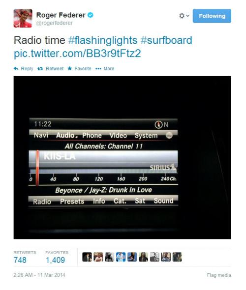 Rog tweet Beyonce surfboard