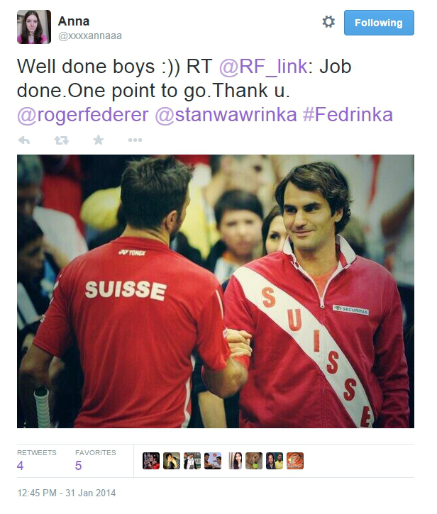 Stan Wawrinka Roger Federer handshake Serbia January 31 2014 pics photos red Swiss jackets shirts