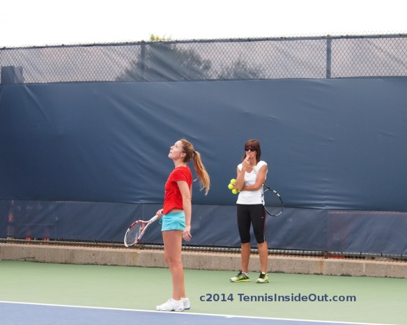 Alize Cornet looking for serve toss gone lost in sky racquet ponytail funny photos