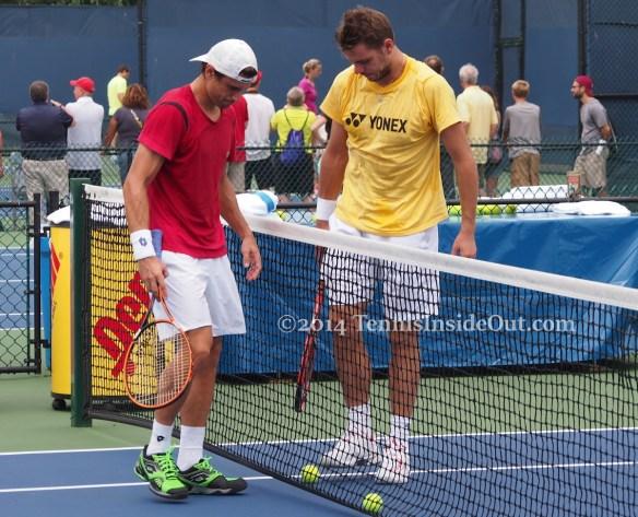 David Ferrer Ferru Stan the Man Wawrinka tennis balls pick up Cincy