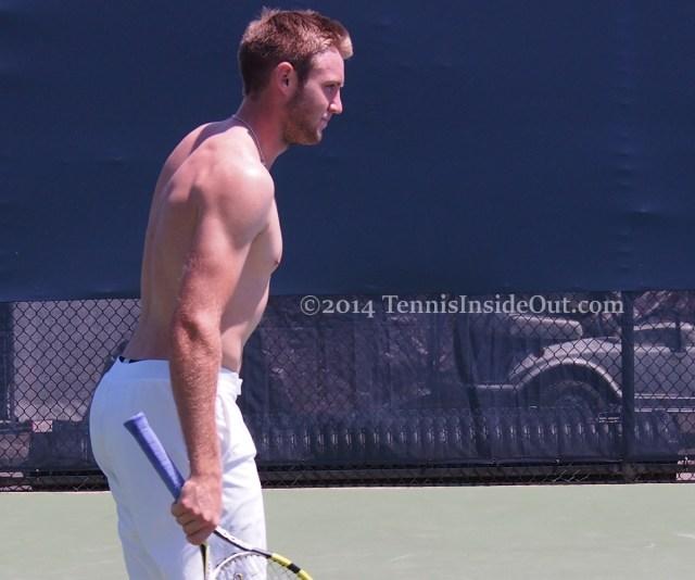 Shirtless Jack Sock shoulders pecs shapely ass pics blonde photos