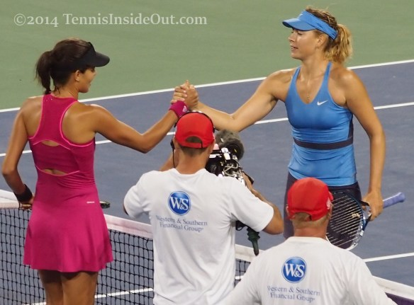 Ana Ivanovic Maria Sharapova handshake pics Cincinnati match 2014 semifinals