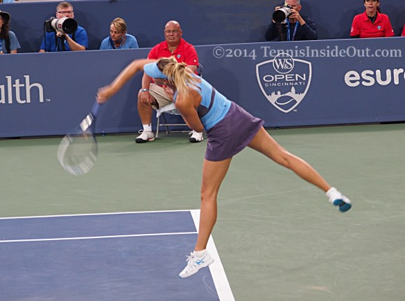 Masha leaping serve