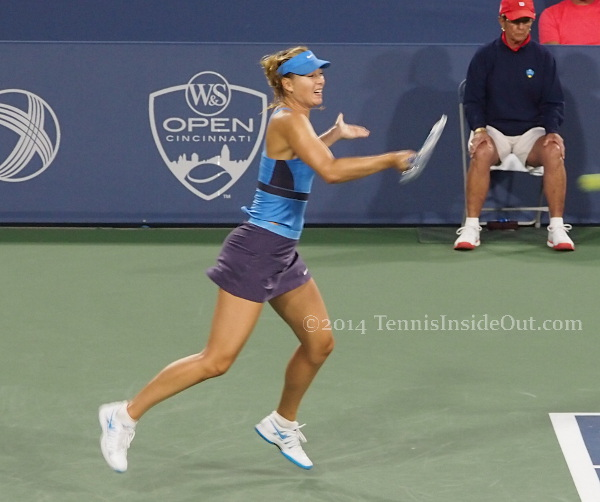Maria Sharapova Cincy leapoing forehand grunt shriek warrior princess yell pics images photos
