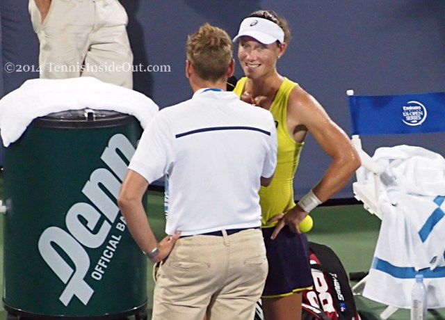 Western and Southern Open tennis Samantha Stosur on court interview smile photos pictures